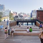 La celebre High Line di New York, opera dei paesaggisti James Corner Field Operations e degli architetti Diller Scofidio + Renfro