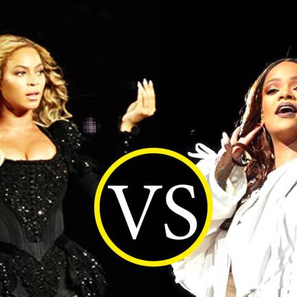 Rihanna vs Beyoncé - ph.Alex Vaccani