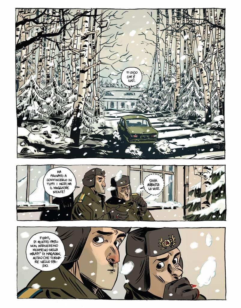 Una tavola del fumetto di Toni Bruno