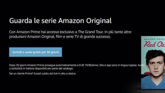 Amazon Prime Video, le produzioni originali
