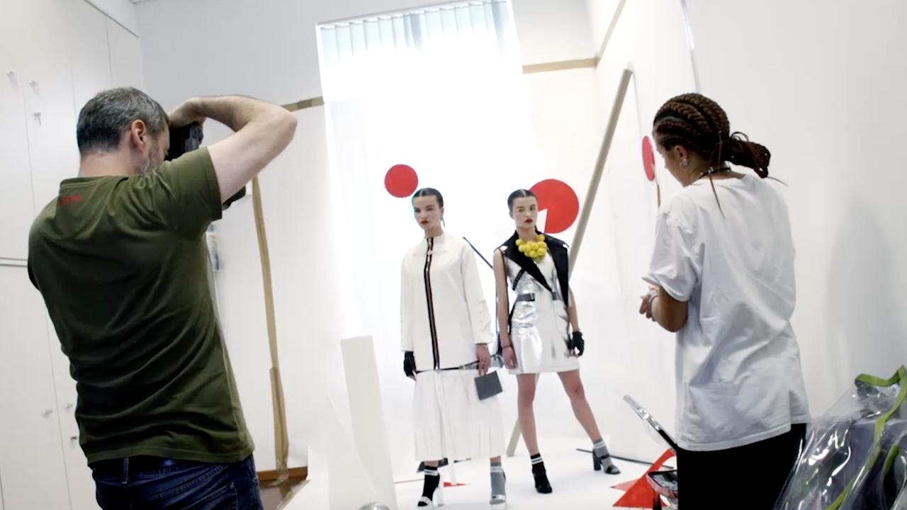 Scuola moda MKS borsa studio
