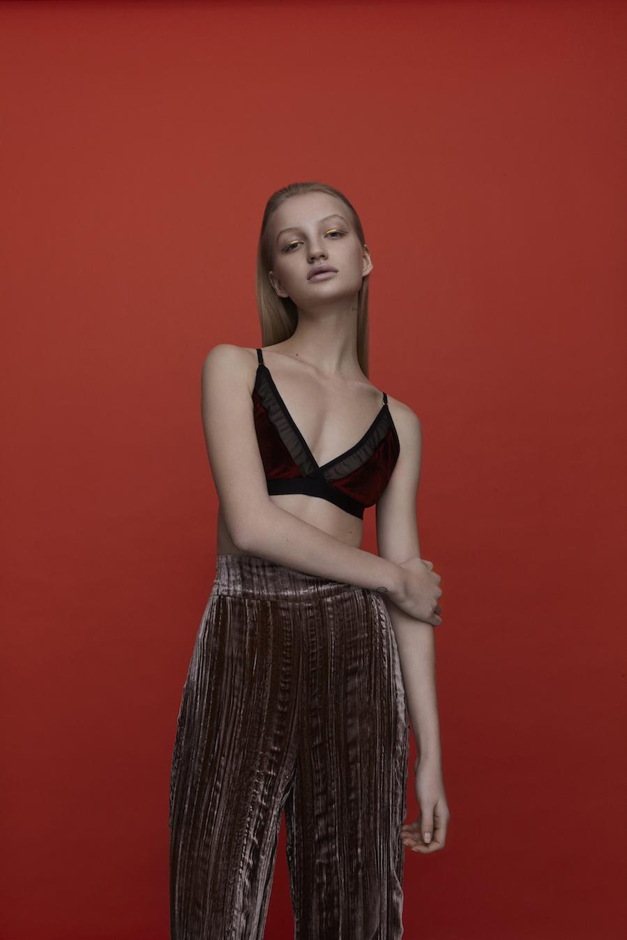 Reggiseno in velluto Primark Pantaloni Zara