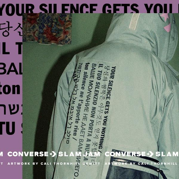 Cali-Thornhill-DeWitt-Darryl-Curtains-Jackson-Converse-Gabriele-Casaccia-Slam-Jam-Silence-Gets-You-Nothing-capsule-collection-collaborazione-ivan-grianti-copertina