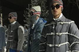 Moncler Gamme Bleu durante la settimana della moda milanese porta in scena la montagna e le basse temperature, per meglio interpretare l'autunno-inverno 17/18.