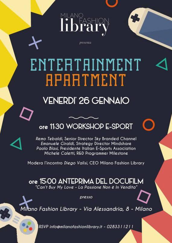 entertainment apartment workshop evento e-sport